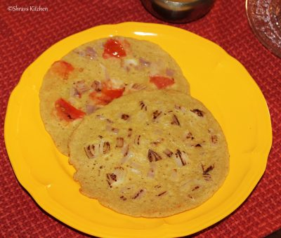 instant oats uthappam