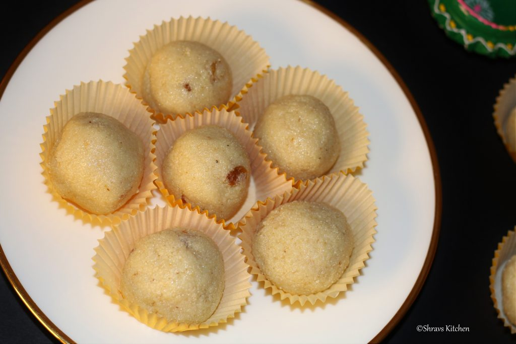 rava ladoo / rava ladoo with condensed milk