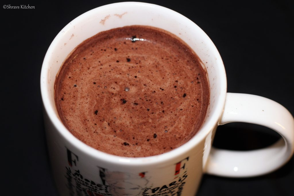 Hot chocolate / microwave hot cocoa drink