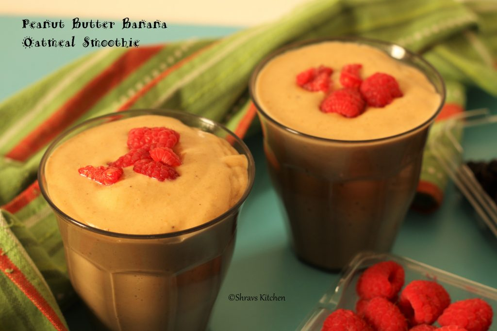 Banana oats smoothie / peanut butter smoothie