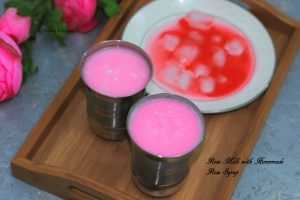 homemade rose milk