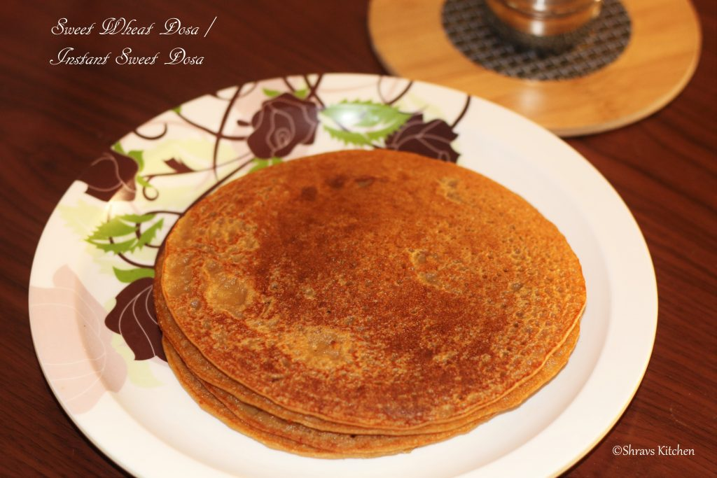 wheat coconut sweet dosa