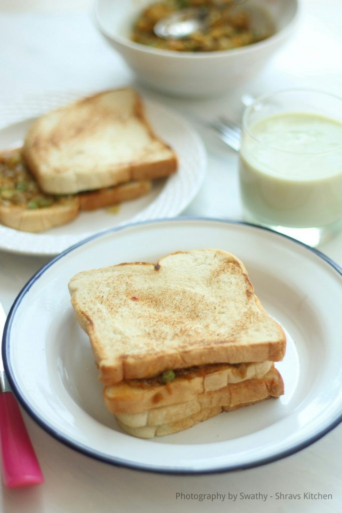 Vegetable toasted sandwich