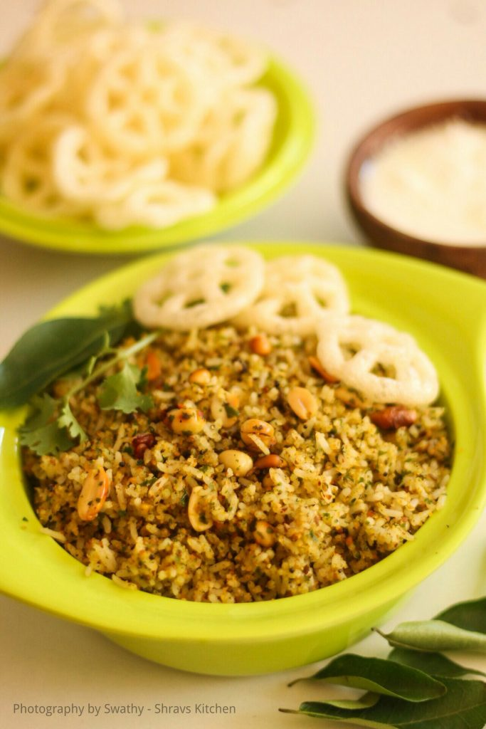 Karuveppillai sadam / curry leaves rice recipe