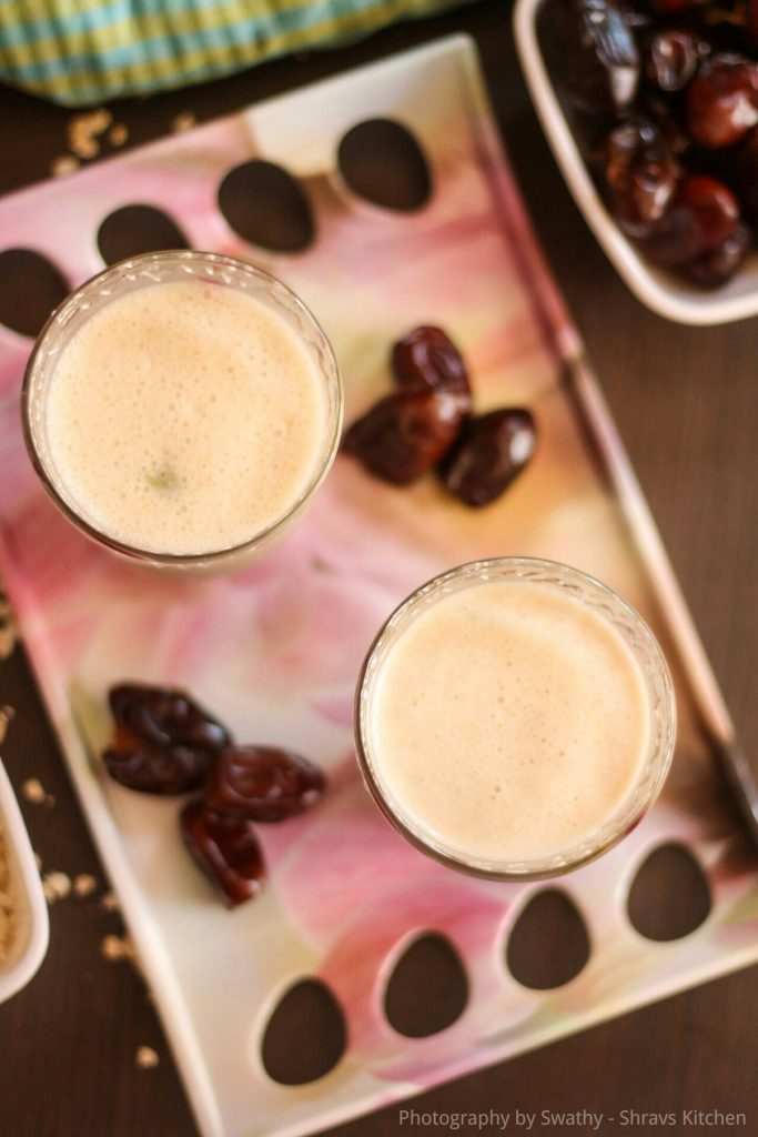 Oats and dates lassi recipe