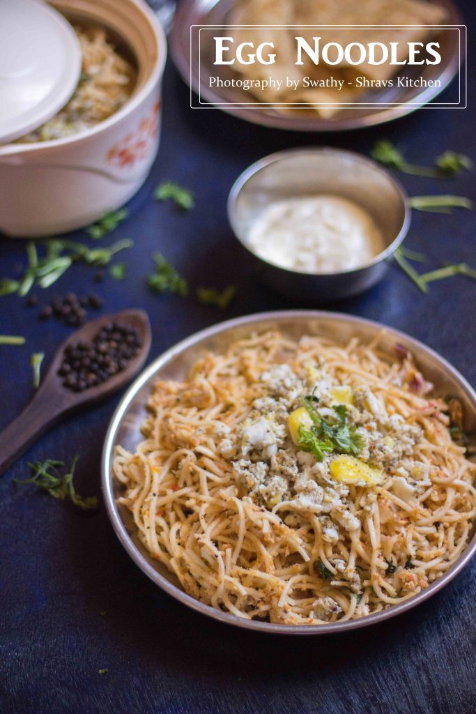 indian egg noodles / hakka noodles