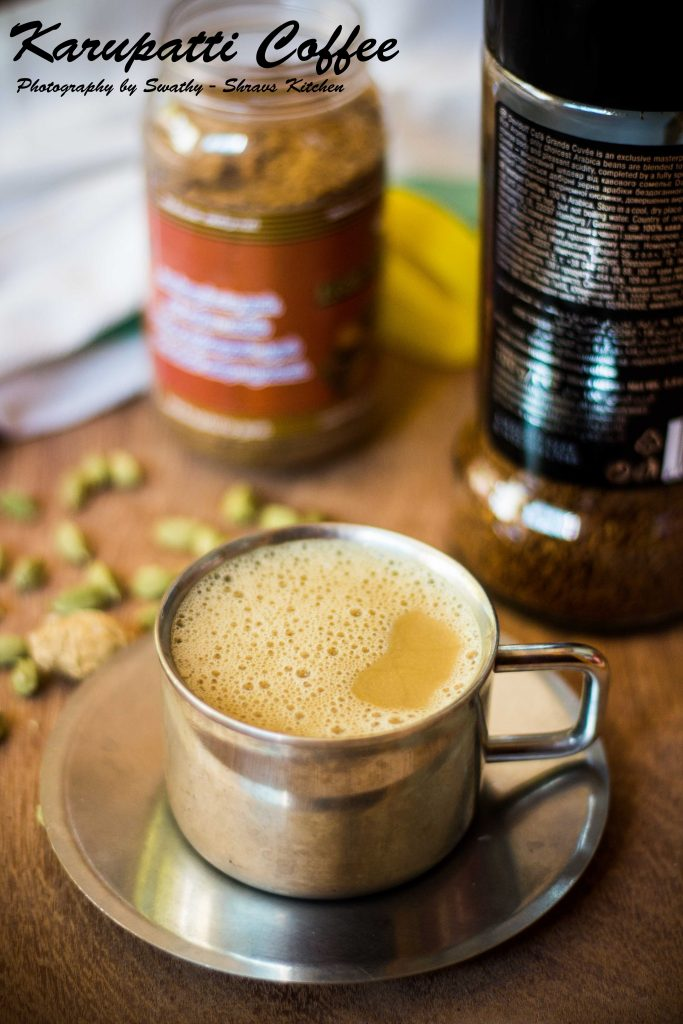 karupatti coffee / palm jaggery coffee