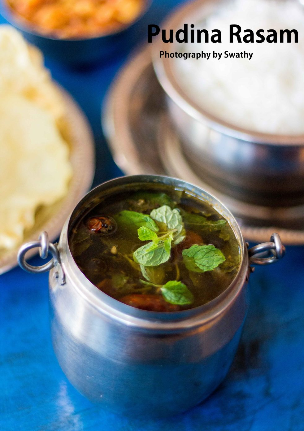 pudina rasam / mint leaves rasam recipe