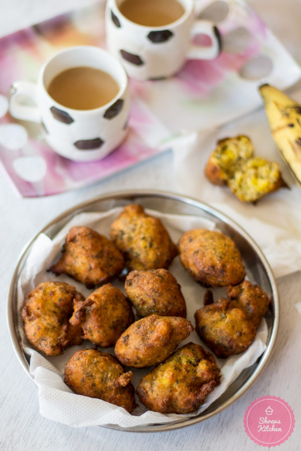banana methi fritters / banana bonda / banana recipes