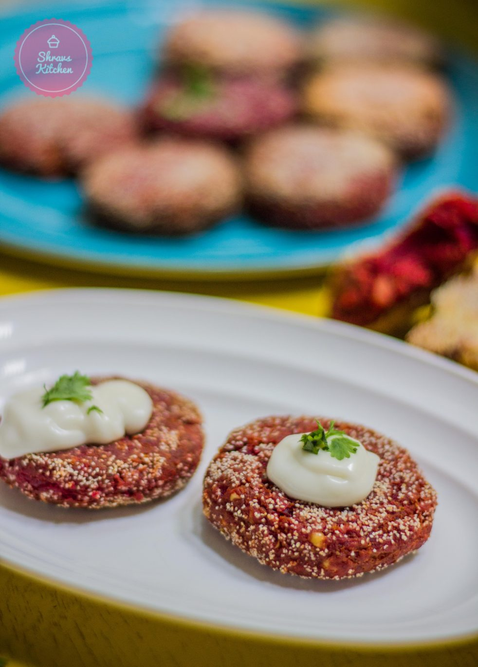 beetroot peanut kebab / beetroot cutlet / beetroot tikki recipe