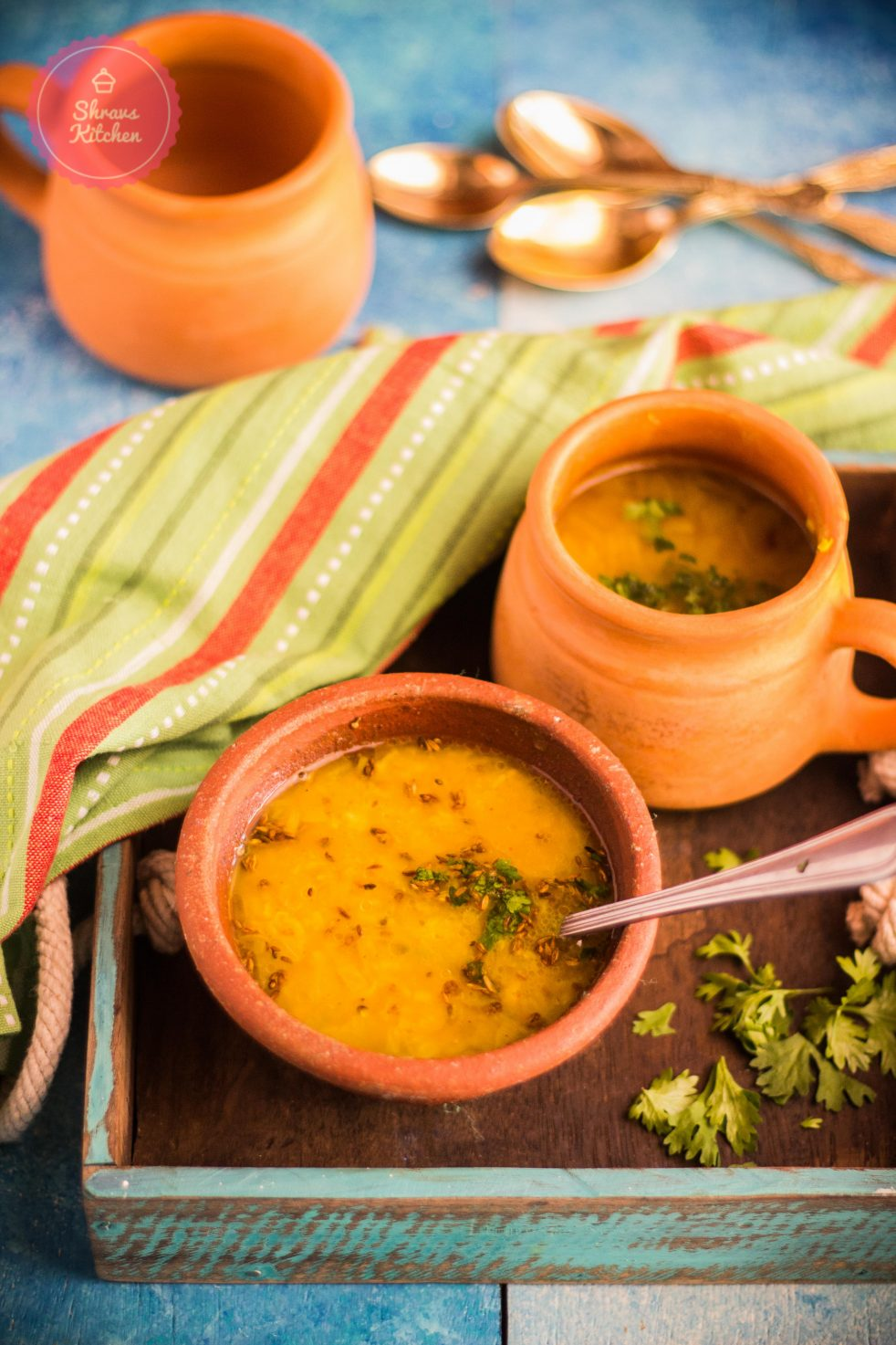 dal shorba / moong dal soup / lentils soup / diabetic recipe