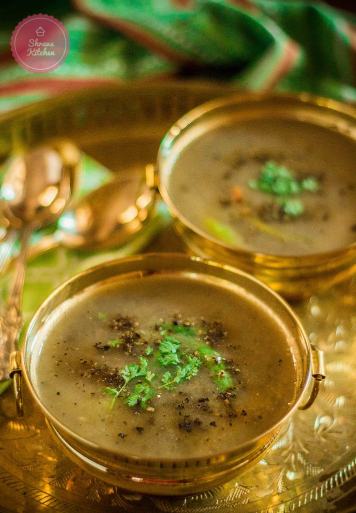green moong dal soup / green gram soup / dal shorba / lentils soup / diabetic recipe