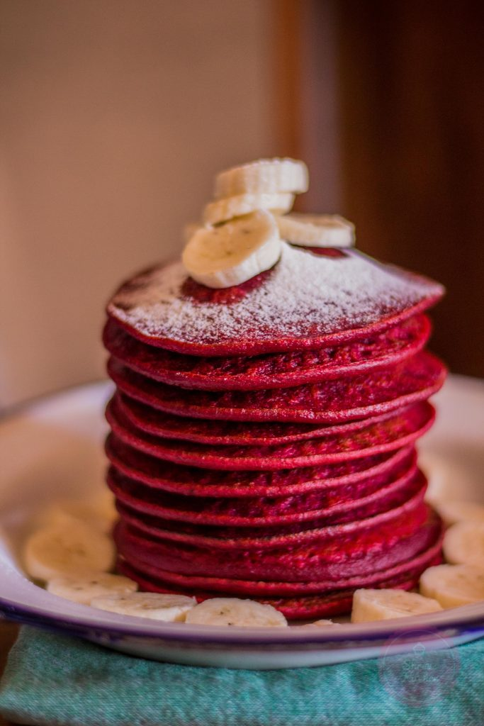 beetroot pancake recipe / red velvet pancake / pancake recipe / beetroot recipe